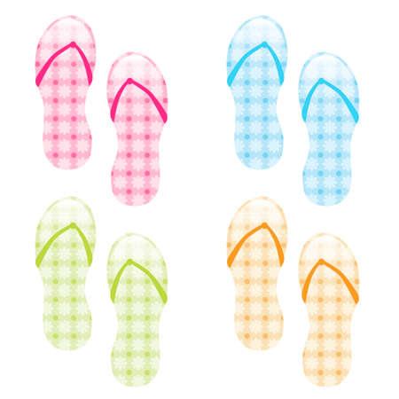 flip flop: flip flop collection Illustration