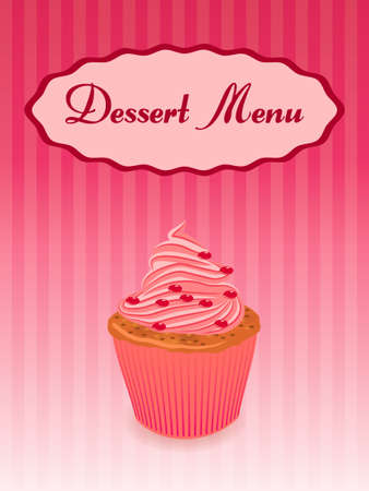dessert menu Stock Vector - 13098329