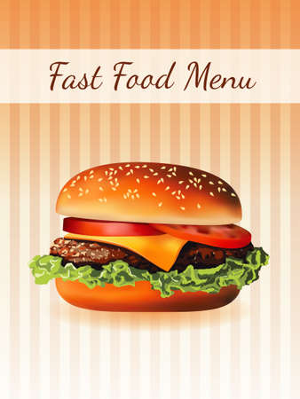sesame seed: hamburger di menu