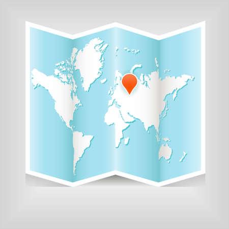 world atlas: map of world
