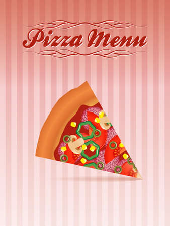 pizza menu Vector