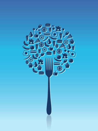 lemon tree: organic food Illustration