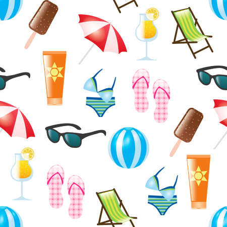 summer seamless pattern Stock Vector - 13331392