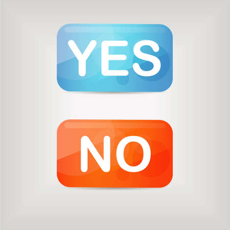 yes or no: yes and no buttons Illustration