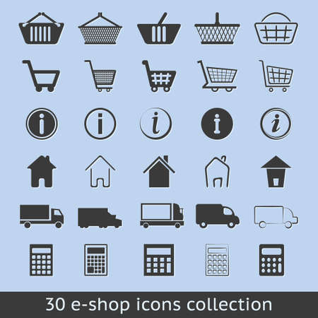 e-shop icons Stock Vector - 13508258