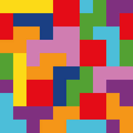 tetris pattern Vector