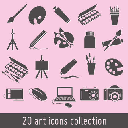 distemper: art icons collection Illustration