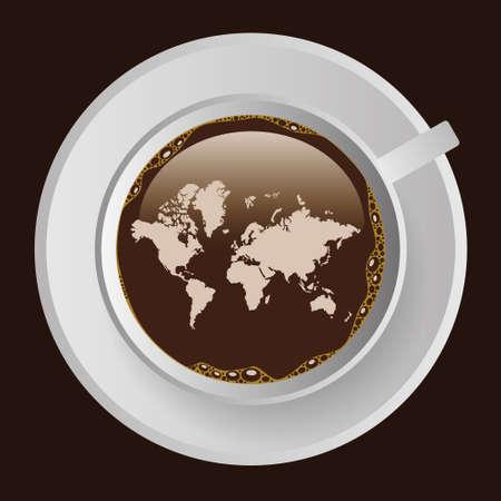 Tasse Kaffee mit Karte