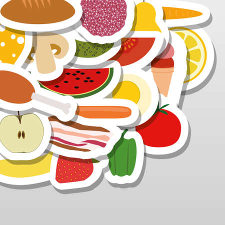 eggs and bacon: food stickers