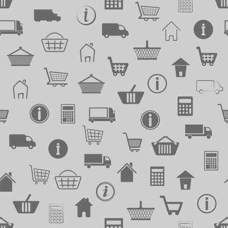 eshop: seamless pattern with e-shop icons