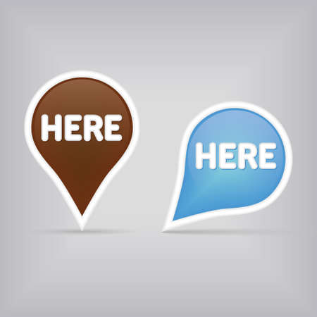 help button: two map signs Illustration