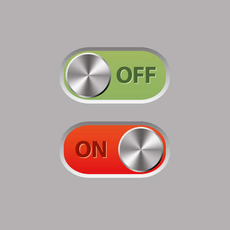 off and on buttons Stock Vector - 13811482
