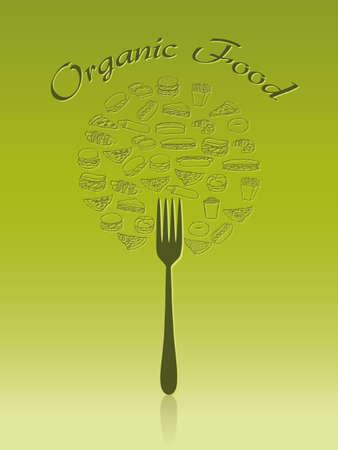 green organic food Vector