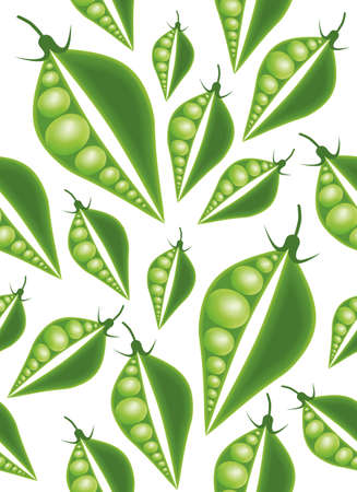 green peas seamless pattern Vector