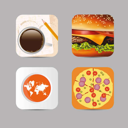 application icons collection Vector