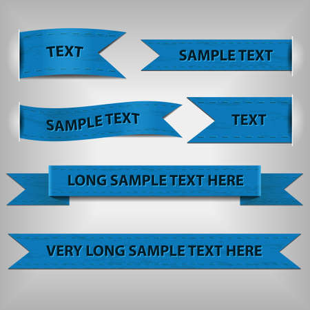 blue ribbons with sample text Vector