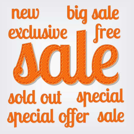 sale titles Stock Vector - 13910590