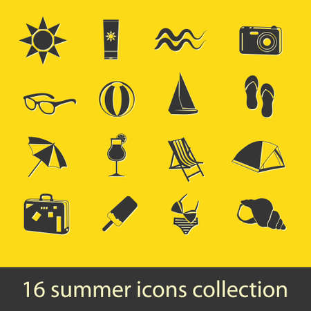 summer icons collection Stock Vector - 14003648