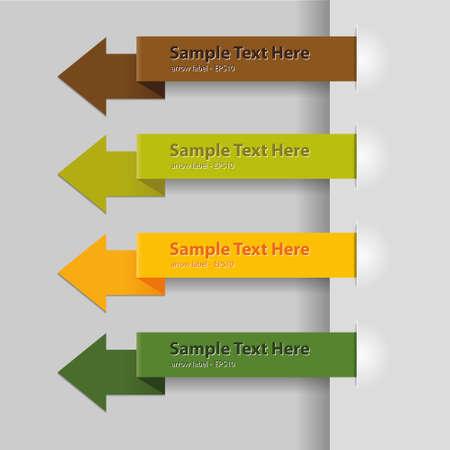 arrow tags with sample text Vector