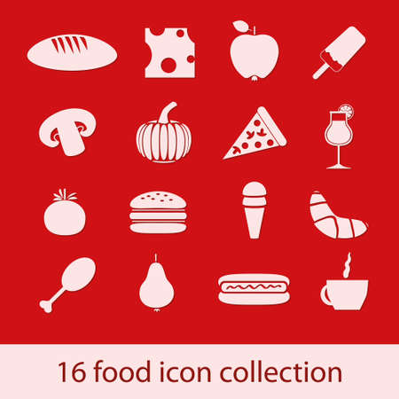 food icons collection Stock Vector - 14219966