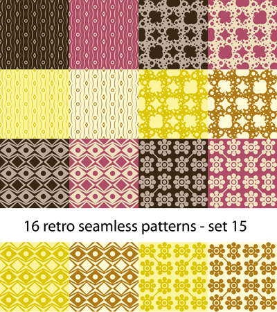 lila: retro seamless patterns collection - set 15 Illustration