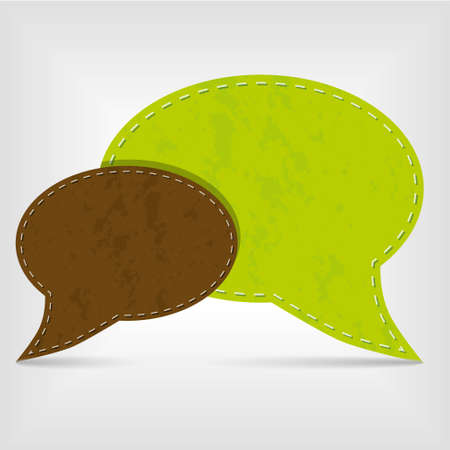 green and brown communication bubbles Vector