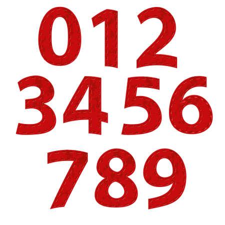 numero nueve: alfabeto de la cinta roja - la octava parte - los números Vectores