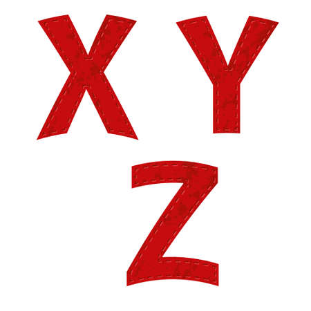 primary colors: red ribbon alphabet - part seven - X, Y, Z