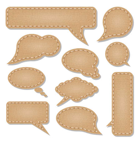 matter: leather communication bubbles Illustration