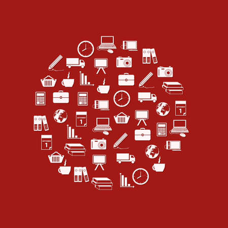 business icons in circle Vector