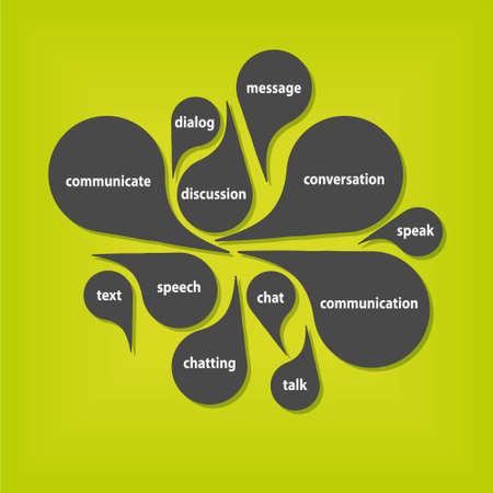 talk: communication bubbles Illustration