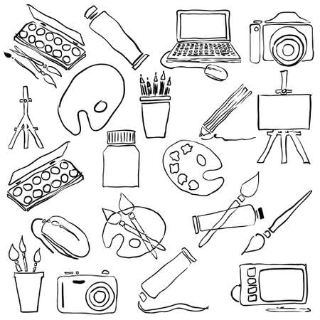 doodle art: doodle art collection Illustration
