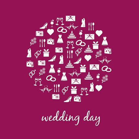wedding icon in circle Stock Vector - 14631054