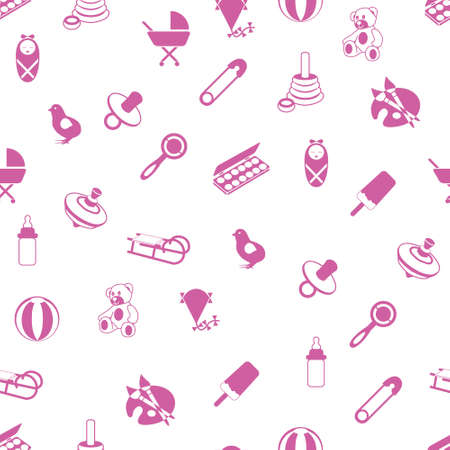 safety pin: baby icons pattern