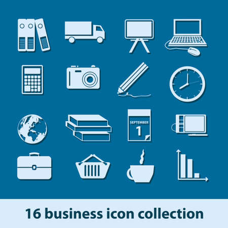 16 business icon collection Vector