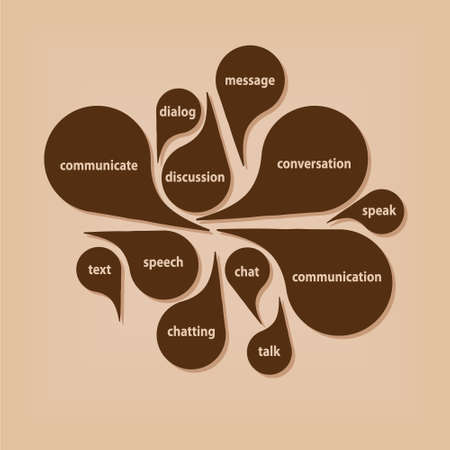 conversations: comunicazione bolle Vettoriali