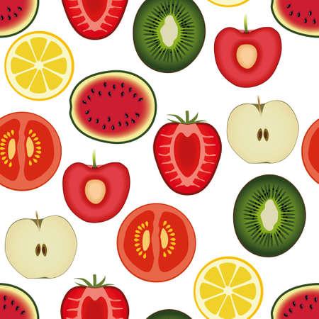 kiwi fruit: fruta sin patr�n Vectores