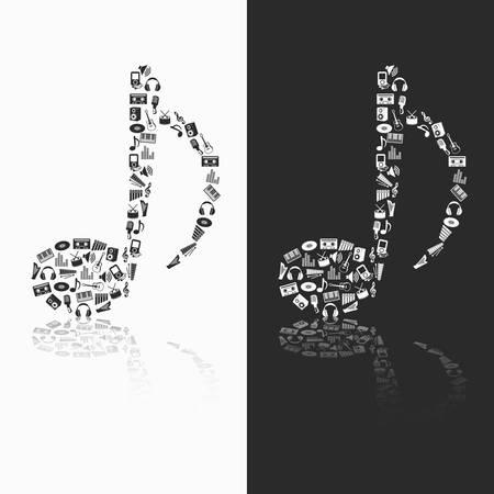 arpa: iconos de la m�sica de la nota Vectores