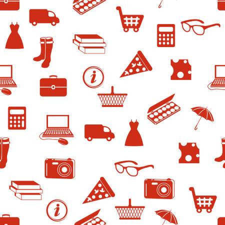 trolley case: shopping seamless pattern Illustration