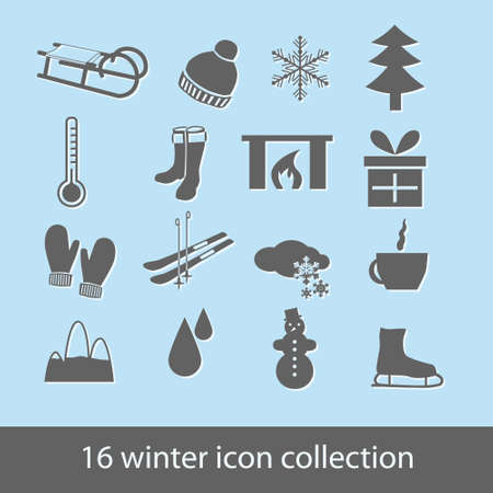 winter icons Stock Vector - 14840397