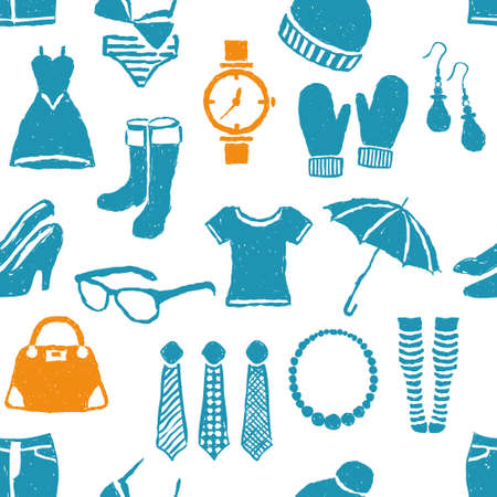 seamless doodle fashion pattern Stock Vector - 14952863