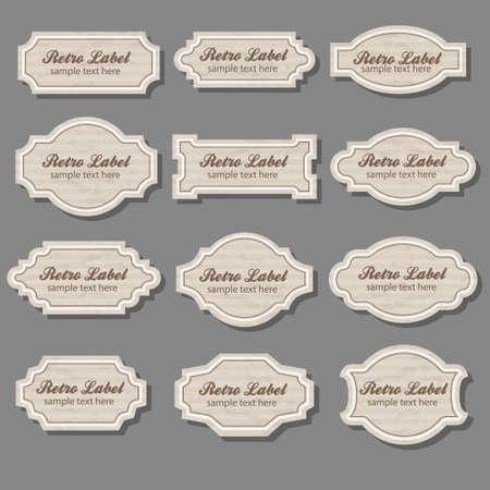 sticker design: vintage labels