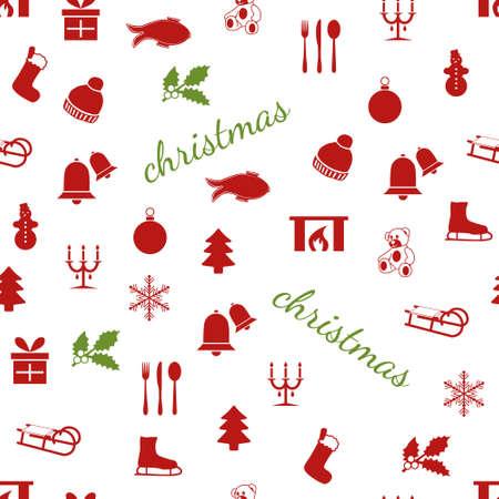 seamless christmas pattern Stock Vector - 15073150