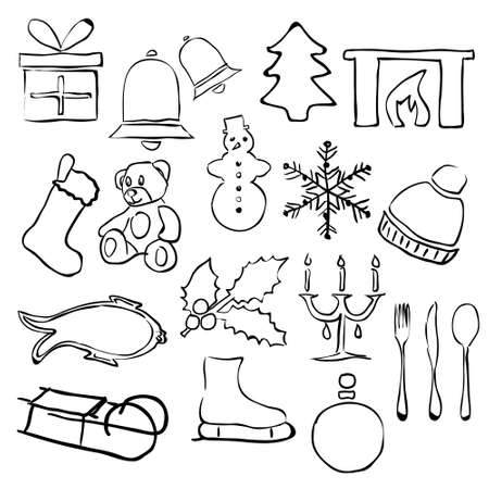 doodle christmas images Stock Vector - 15073146
