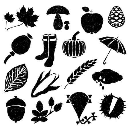 ear of corn: doodle autumn images Illustration