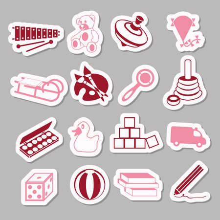 toys stickers Vector