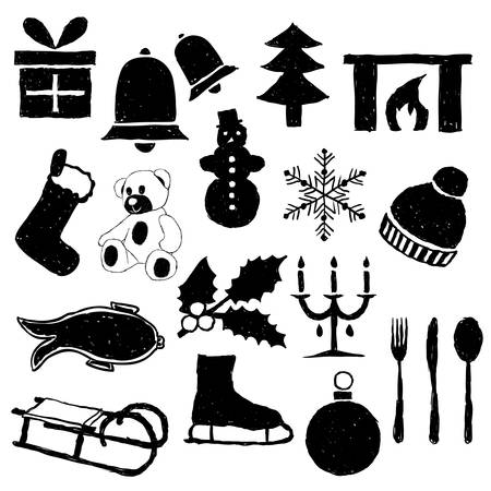 doodle christmas images Stock Vector - 15073173