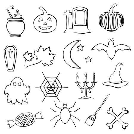 doodle halloween images Stock Vector - 15073161