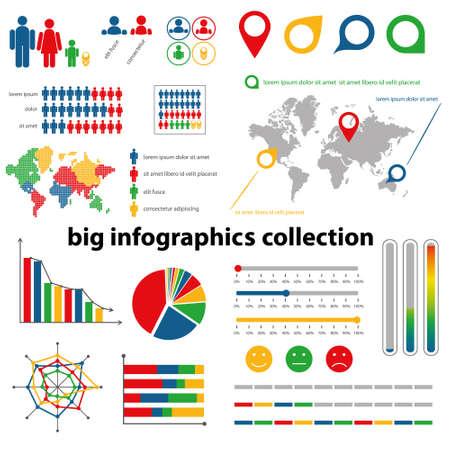 demografia: infografía colección