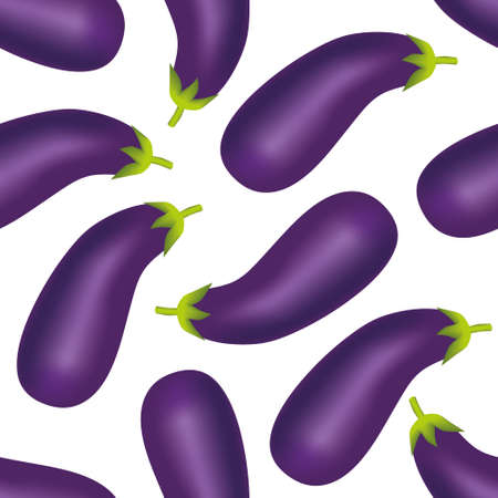 lila: eggplant seamless pattern Illustration